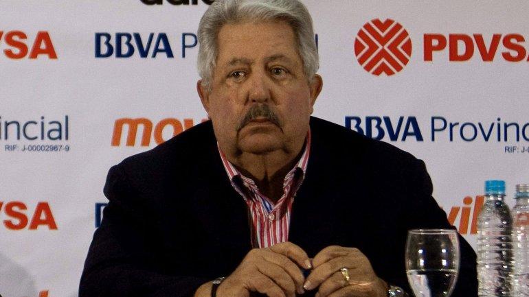 Rafael Esquivel, 69 años, ex presidente de la Federación Venezolana de Fútbol y ex Vicepresidente de la Conmebol
