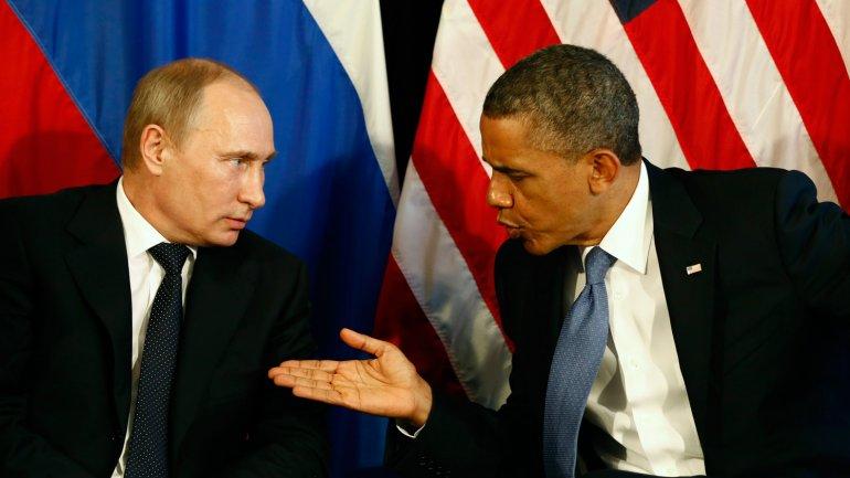 Vladimir Putin y Barack Obama durante una reunión del G20.