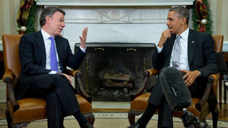 Juan Manuel Santos llegó a Estados Unidos para reunirse con Barack Obama