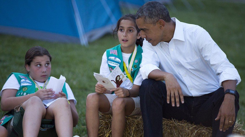 Campamento de sleepaway de Girl Scouts