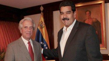 Tabaré Vázquez junto a Nicolás Maduro