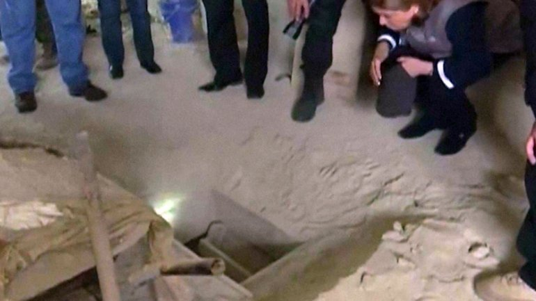 El túnel que utilizó El Chapo para huir del penal El Altiplano el 11 de julio de 2015