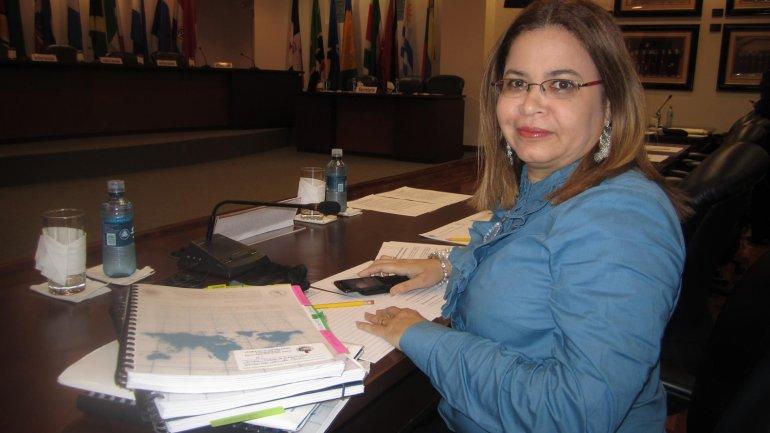 En la Corte Interamericana de Derechos Humanos en Costa Rica, Patricia Andrade antes de la audiencia oral y publica en la demanda contra el Estado Venezolano por el caso Díaz, 9 de diciembre del 2011