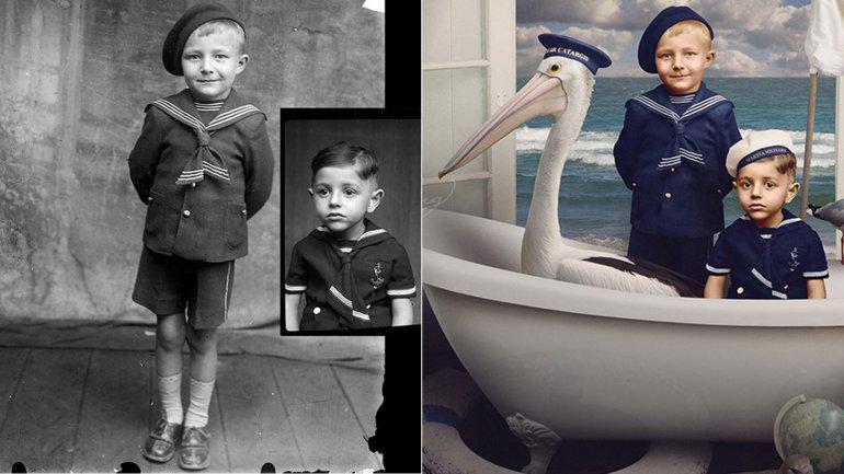 Fotos antiguas antes y despues de editarse en photoshop