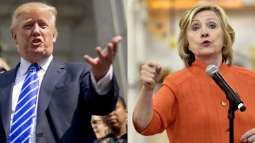 Donald Trump y Hillary Clinton, los favoritos en la interna de sus partidos