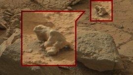 Una presunta iguana detectada en las fotos de la NASA en Marte