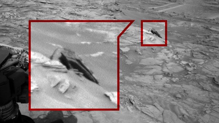 El destructor estelar estrellado en Marte