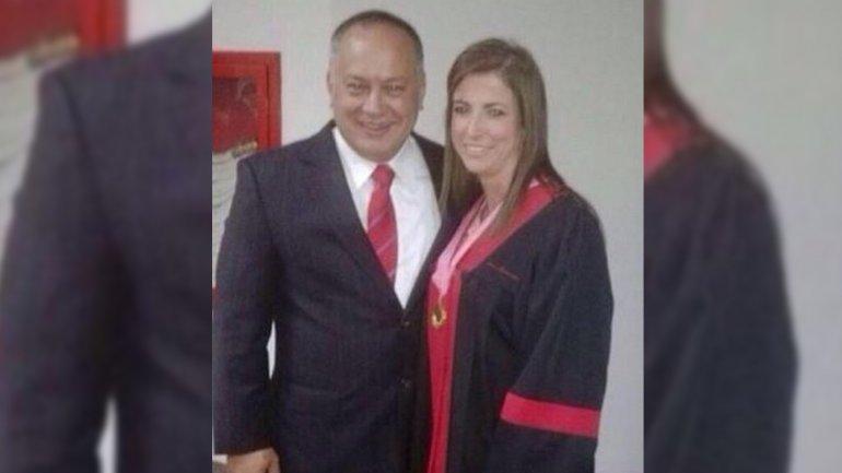 Diosdado Cabello junto a Susana Barreiros