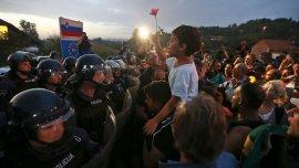 Refugiados quieren ingresar a Eslovenia desde Croacia