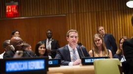 Mark Zuckerberg, fundador de Facebook, en Naciones Unidas