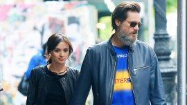 Jim Carrey junto a su ex pareja recientemente fallecida, Cathriona White