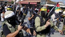 Movimientos palestinos que responden a Al Fatah en una movilización anti israel