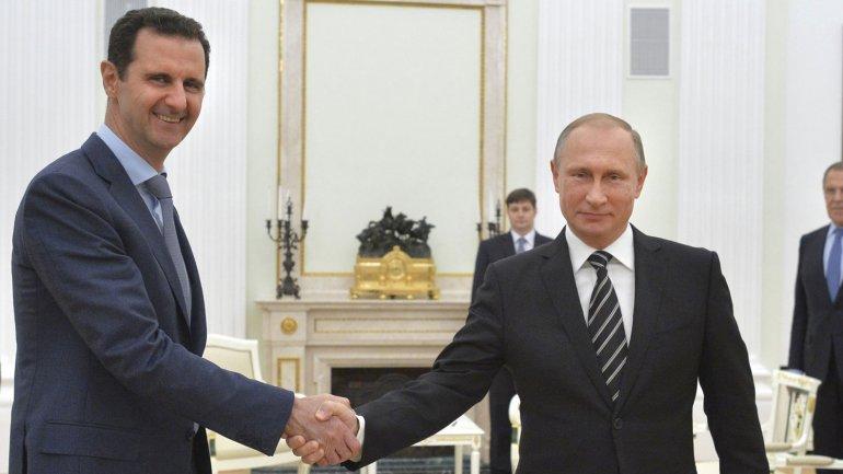Bashar al Assad y Vladimir Putin mantuvieron un encuentro en Moscú