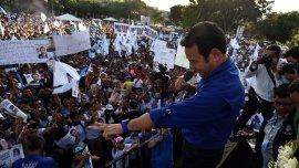 Jimmy Morales cerró su campaña de cara a la segunda vuelta electoral