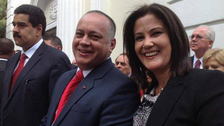 Diosdado Cabello y su esposa,Marleny Contreras