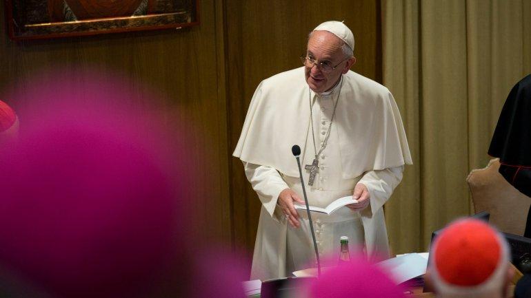 El papa Francisco en el Sínodo de la Familia en el Vaticano