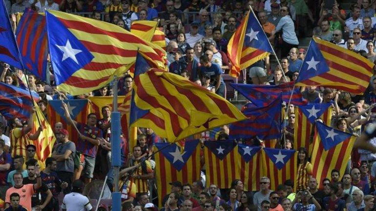 Las esteladas son un símbolo de la independización catalana