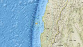 El sismo se produjo en la costa centro de Chile
