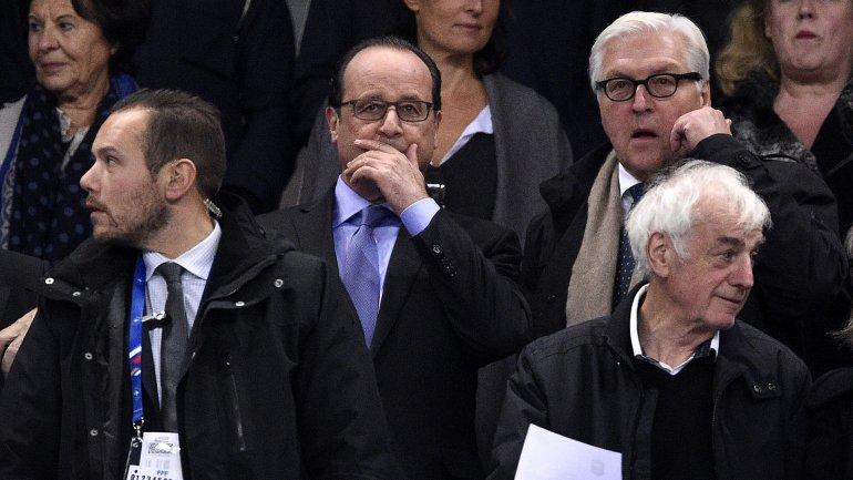 El presidente de Franica, durante el partido frente a Alemania