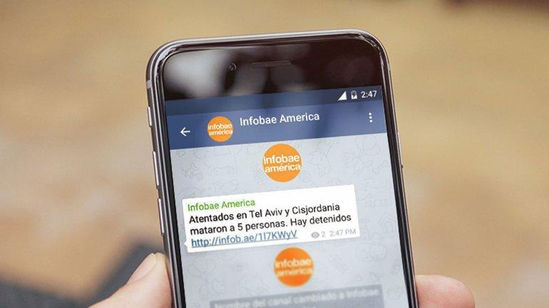Infobae lanzó un nuevo canal de información mediante notificaciones de Telegram