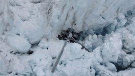 El helicóptero cayó en el glaciar Fox