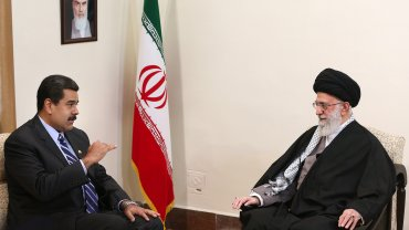 El presidente de Venezuela, Nicolás Maduro, se reunió en Irán con el líder supremo de Irán, Ali Khamenei