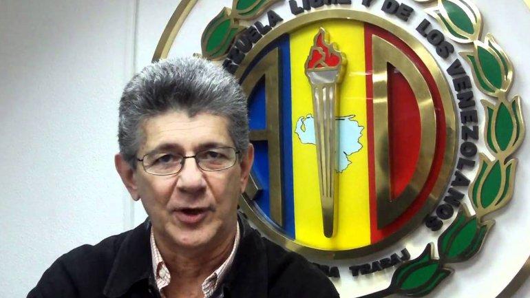 Henry Ramos Allup,secretario general de Acción Democrática y actual presidente de la Asamblea Nacional de Venezuela