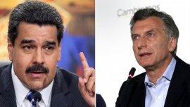 Nicolás Maduro y Mauricio Macri