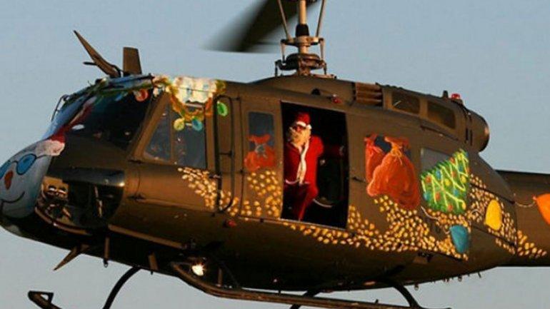 Papá Noel robó un helicóptero en San Pablo, Brasil (Foto ilustración)