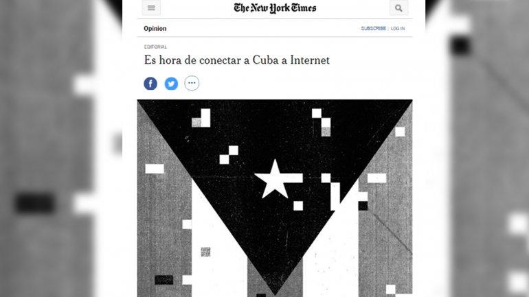 Es hora de conectar a Cuba a Internet, se titula el editorial del New York Times