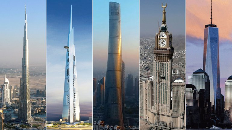 burja khalifa dubai jeddah tower arabia saudita shanghai tower shangai china abraj albait towers arabia saudita y freedom tower nueva york