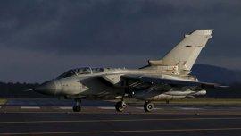 El avión Tornado de la fuerza aérea británica