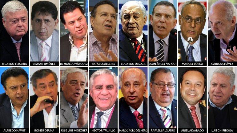 Los 16 nuevos acusados por el escándalo de corrupción de la FIFA