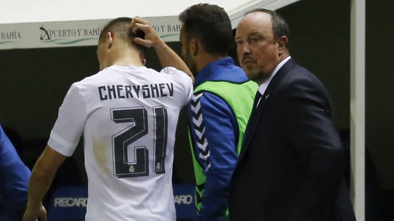 Denis Cheryshev se retira reemplazado en el Real Madrid