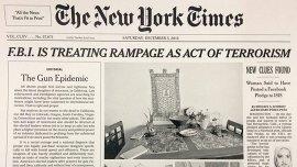 La portada del New York Times del sábado 5 de diciembre de 2015