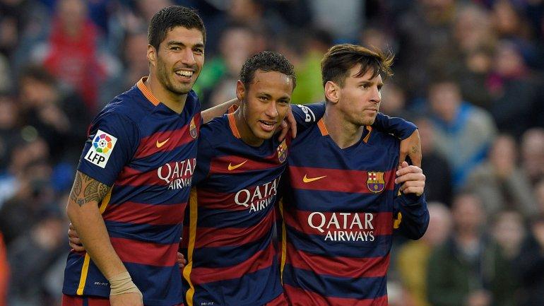 Luis Suárez, Neymar y Lionel Messimarcaron 137 goles en 2015