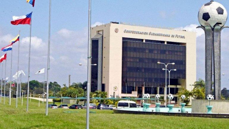 La sede de la Confederación Sudamericana de Fútbol (Conmebol) en Asunción, Paraguay