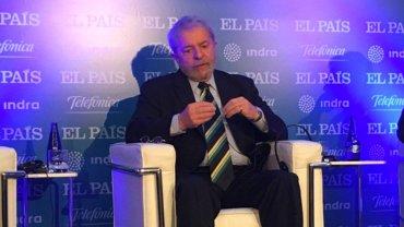 Lula da Silva en un seminario de Madrid