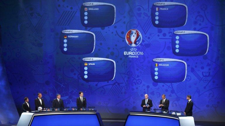 Se sortearon los grupos para el Eurocopa de Francia 2016