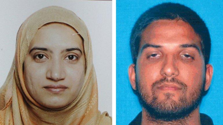Syed Farook y su esposa Tashfeen Malik, los atacantes de la masacre en San Bernardino