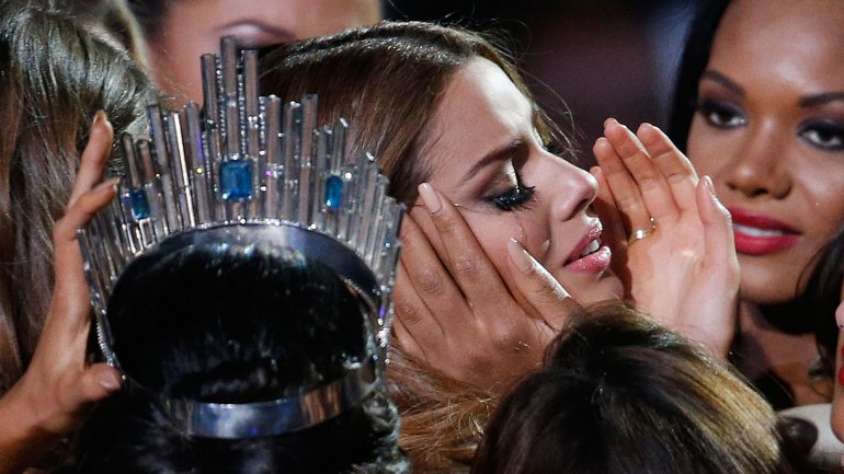 Ariadna Gutiérrez, una vez despojada de su corona y su título de Miss Universo
