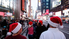 Nueva York vivió la víspera de Navidad más calurosa de la historia