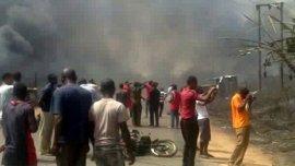 La explosión en lalocalidad industrial de Nnewi dejó al menos 100 muertos