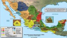 El mapa diseñado por la DEA sobre los cárteles mexicanos