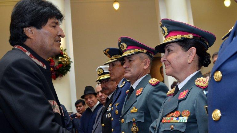 Evo Morales junto aGina Reque Terán