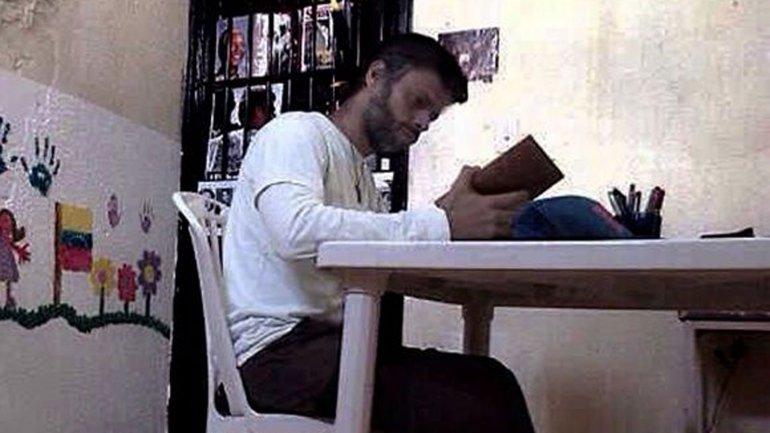 Leopoldo López en la prisión de Ramo Verde