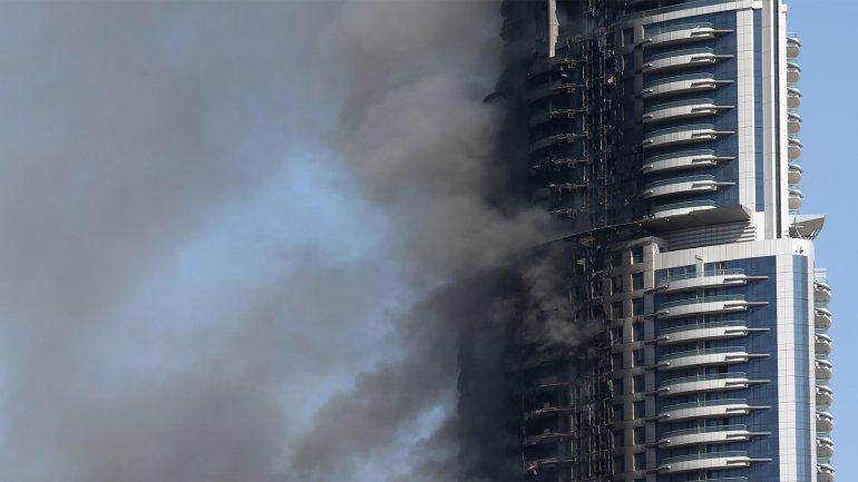 El Address Downtown ardió durante la última noche de 2015