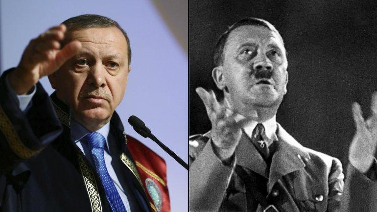 Recep Tayyip Erdogan y Adolf Hitler