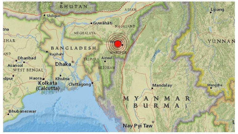 Terremoto India 6,8 grados