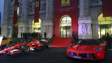 La Bolsa de Milán se tinó de rojo para celebrar el desembarco de Ferrari, que también ya cotizaba en Wall Street.